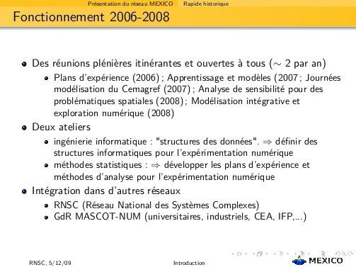 fonctionnement 2006-2008
